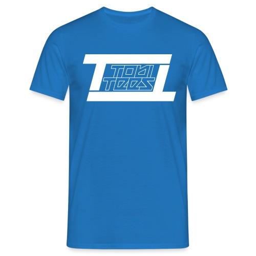 TobiTees 2020 logo white outline - Mannen T-shirt