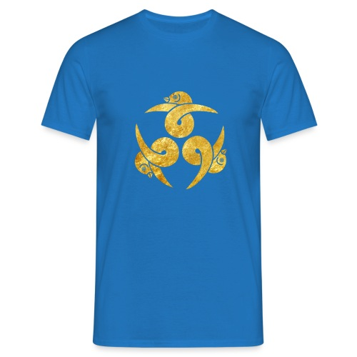 Three Geese Japanese Kamon in gold - Men's T-Shirt
