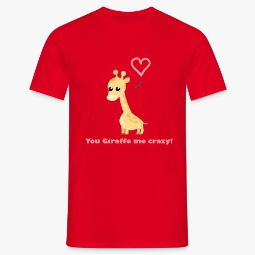 Giraffe Me Crazy - Herre-T-shirt