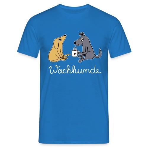 Wachhund trinkt Kaffee Koffein weckt müde Hunde - Männer T-Shirt