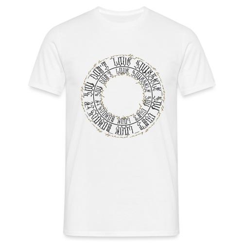 CALLIGRAPHY-CIRCLE - Maglietta da uomo