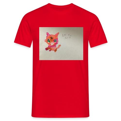Little pet shop fox cat - Men's T-Shirt
