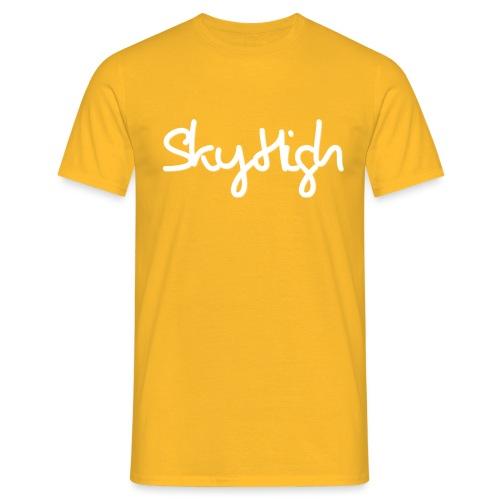 SkyHigh - Men's Premium Hoodie - White Lettering - Men's T-Shirt