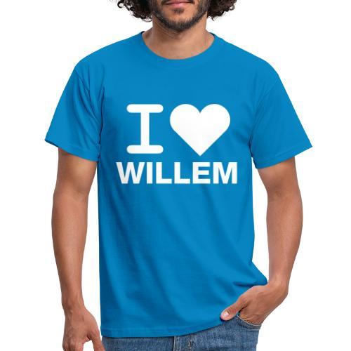 I LOVE WILLEM - Mannen T-shirt