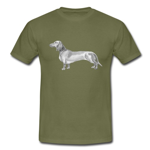 Dachshund smooth haired - Herre-T-shirt