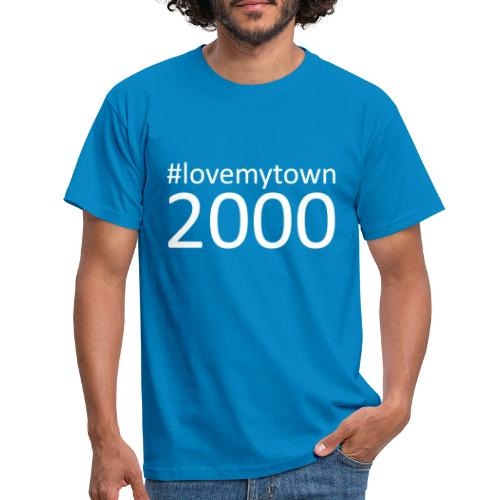 lovemytown2000wit - Mannen T-shirt