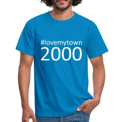 lovemytown2000wit - Mannen T-shirt