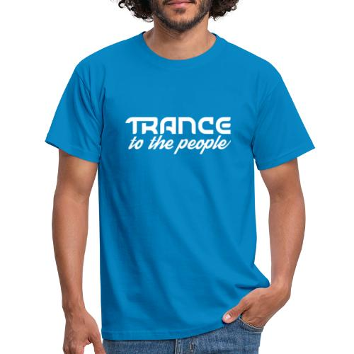 Trance to the People Hvidt Logo - Herre-T-shirt