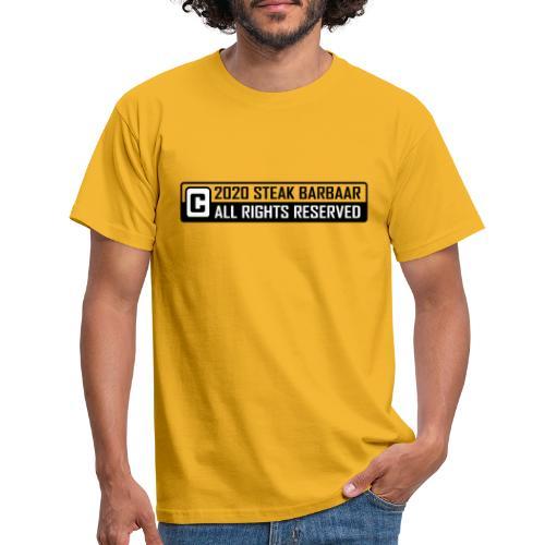 Copyright standaard zwart wit - Mannen T-shirt