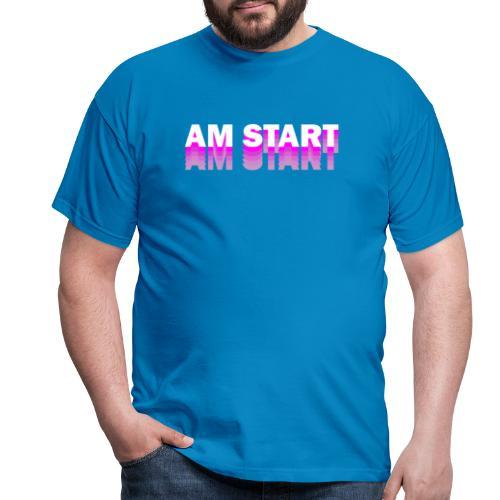 am Start - pink weiß faded - Männer T-Shirt