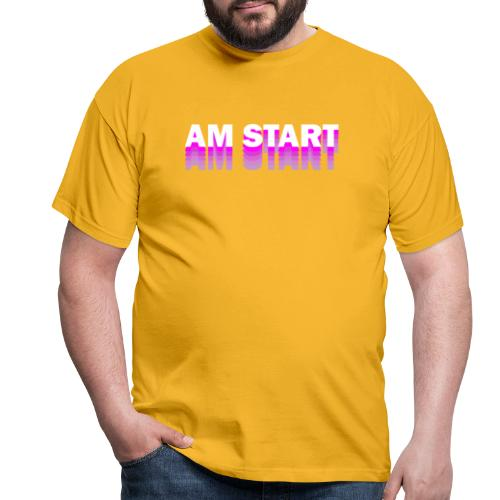 am Start - pink weiß faded - Männer T-Shirt