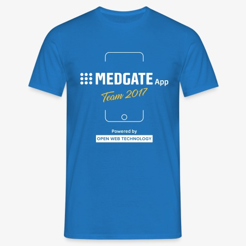 Medgate App Team 2017 Dark - Männer T-Shirt