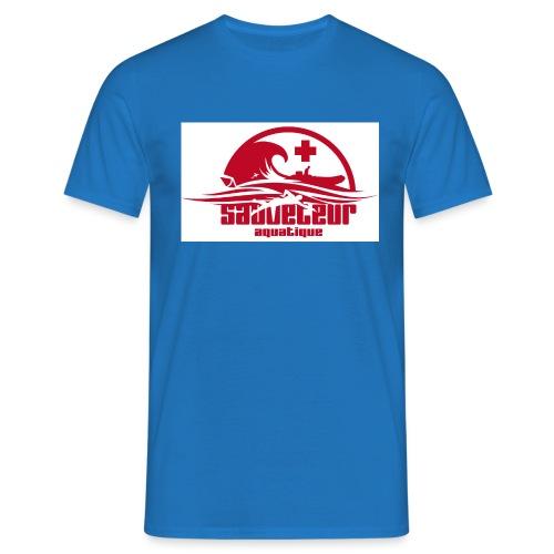 nageur sauveteur sur la plage - T-shirt Homme