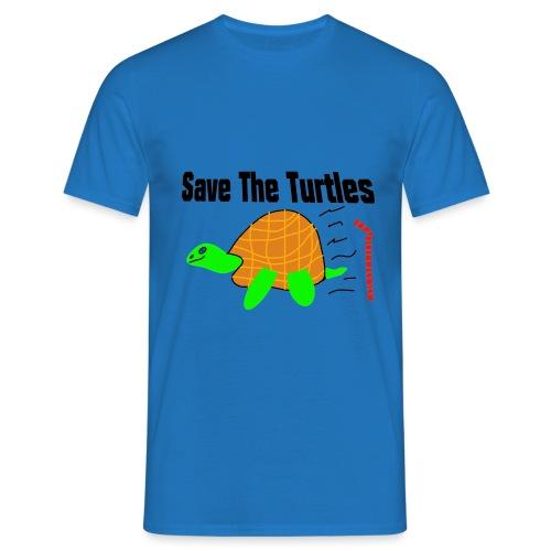 save the turtles - T-skjorte for menn