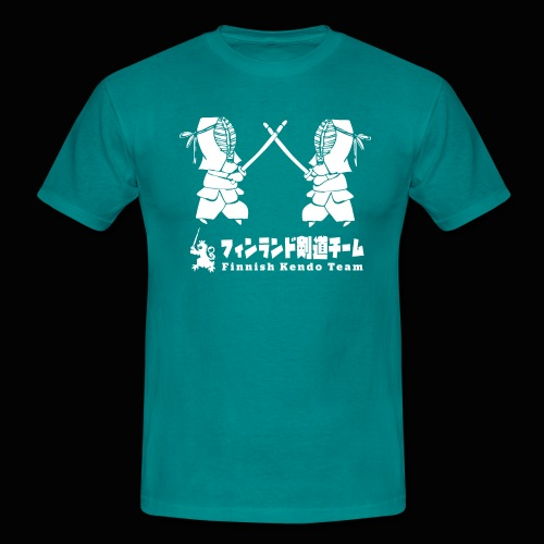 fka team logo white - Miesten t-paita