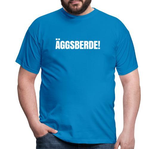 Äggsberde schwarz einzeilig - Männer T-Shirt