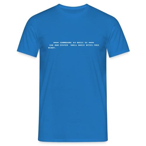C64 BASIC - Männer T-Shirt