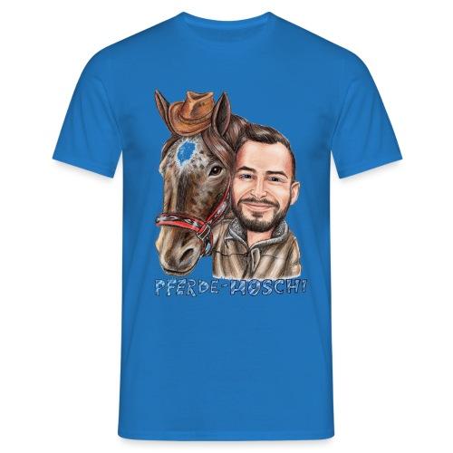 Pferde-Hoschi Kollektion hinten - Männer T-Shirt