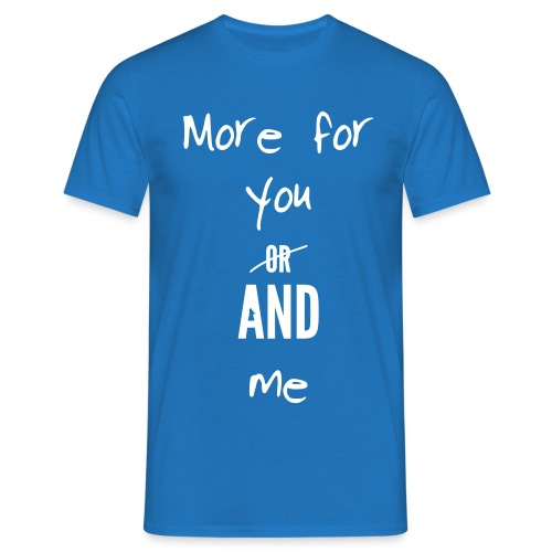 nvc more for you and me - Mannen T-shirt