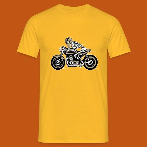 Cafe Racer Motorrad 05_dreifarbig - Männer T-Shirt