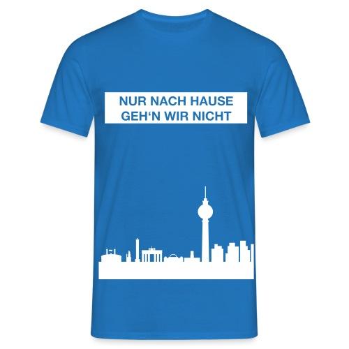 Berlinskyline_weiß - Männer T-Shirt