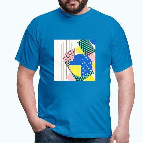 Retro Vintage Shapes Abstract - Men's T-Shirt