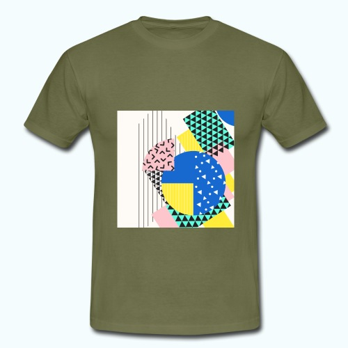 Retro Vintage Shapes Abstract - Men's T-Shirt