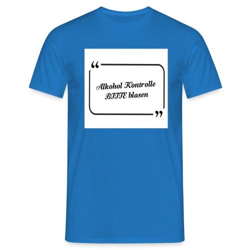 Hi Alkohol - Männer T-Shirt