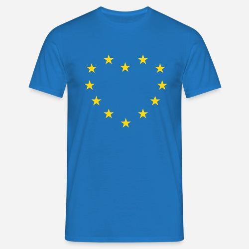 europe star heart - Herre-T-shirt