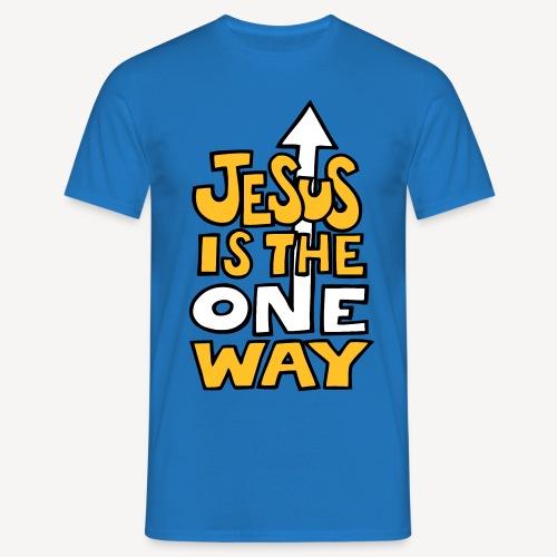 JESUS IS THE ONE WAY - Men's T-Shirt