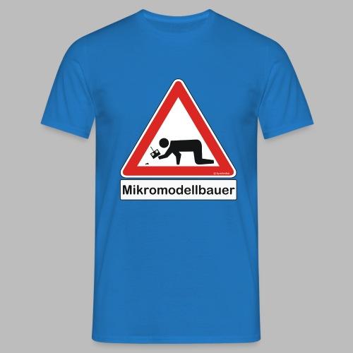 Warnschild Mikromodellbauer Auto - Männer T-Shirt