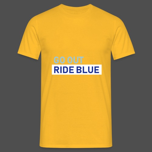 ride blue - Männer T-Shirt