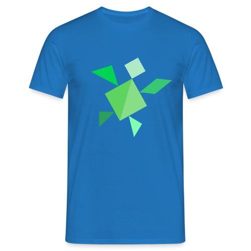 Tangram Schildkröte - Männer T-Shirt
