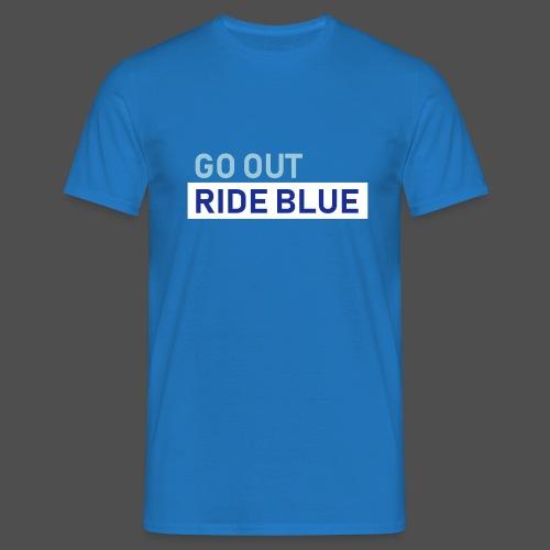 jeździć niebieskim - Koszulka męska