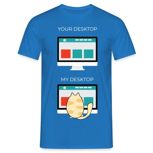 Cat Desktop - Maglietta da uomo