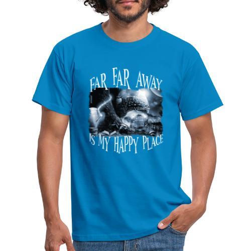 My Happy Place - Black & White - Mannen T-shirt