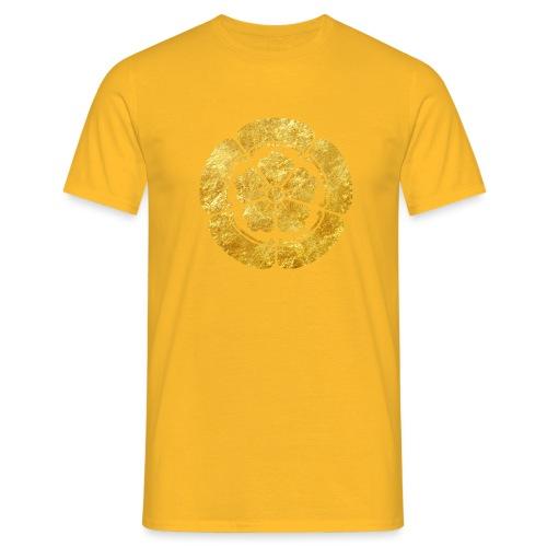Oda Mon Japanese samurai clan faux gold on black - Men's T-Shirt
