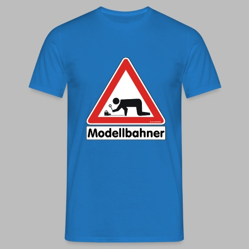 Warnschild Modellbahner E Lok - Männer T-Shirt