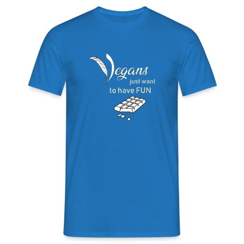 Vegans just want to have fun - tinte scure - Maglietta da uomo