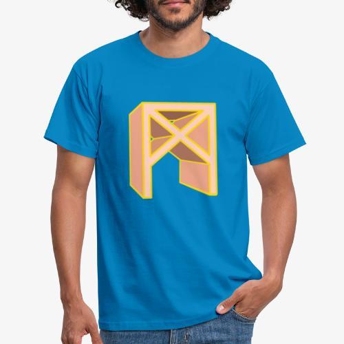 Rune Mannaz in Living-Coral - Männer T-Shirt
