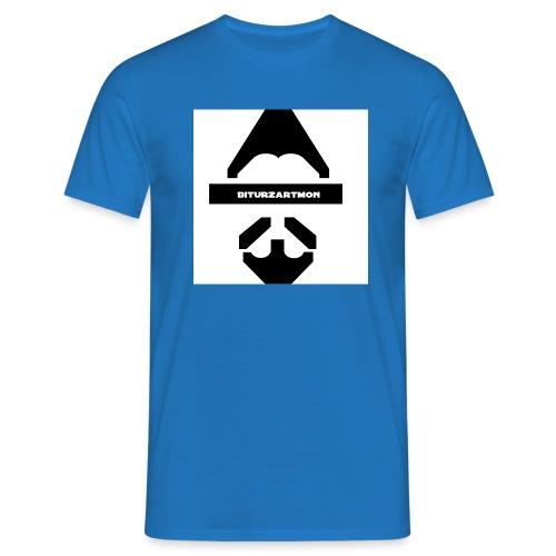Biturzartmon Logo schwarz/weiss glatt - Männer T-Shirt