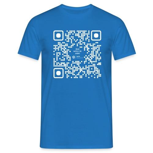 QR The New Internet Should not Be Blockchain Based W - Men's T-Shirt
