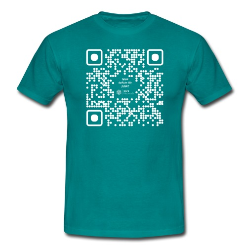 QR The New Internet Should not Be Blockchain Based W - Men's T-Shirt
