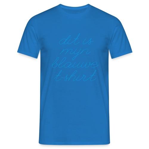 Blauw t shirt - Mannen T-shirt