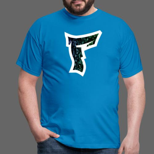 Rauch in Farben mit F Logo in Weiß - Männer T-Shirt