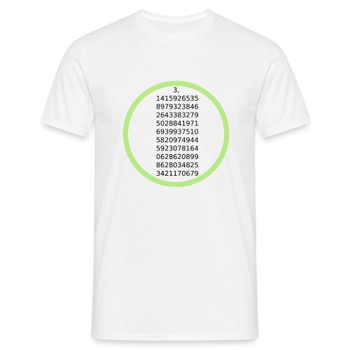 Number Pi Green Circle - Miesten t-paita
