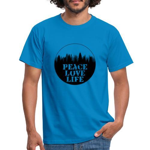 Peace Love Life - Männer T-Shirt