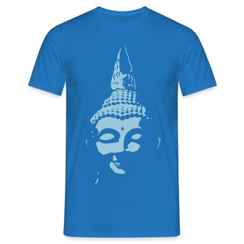 Boeddha hoofd diapositief - Mannen T-shirt