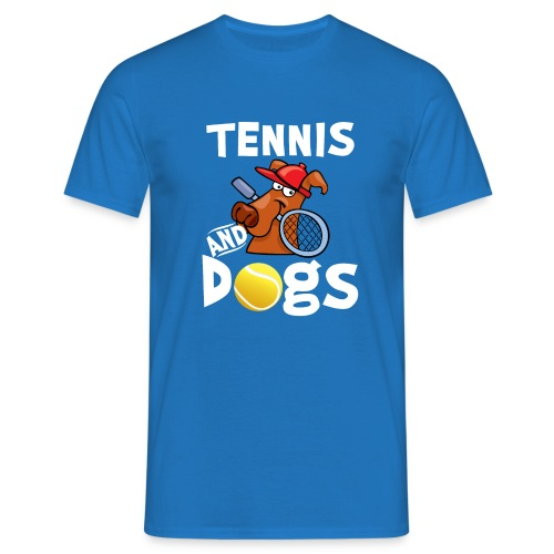 Tennis And Dogs Funny Sports Pets Animals Love - Männer T-Shirt