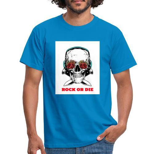 Cool Skull Rock or Die - T-shirt Homme